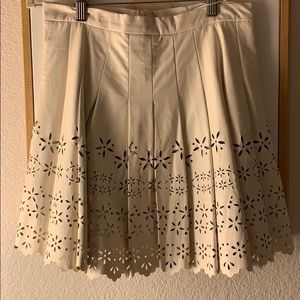 New Size Medium Cream LF Leather skirt